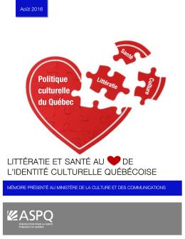 Littératie et santé, au cœur de l`identité culturelle québécoise