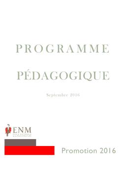 programme pédagogique - École nationale de la magistrature