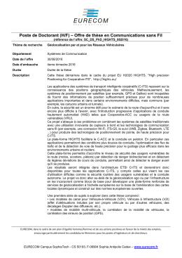 Poste de Doctorant (H/F) – Offre de thèse en