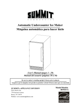 FIM44 Ice Maker User`s manual