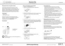 Bedienungsanleitung Receiver-Pad