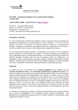 CEP 1000 - Département de science politique