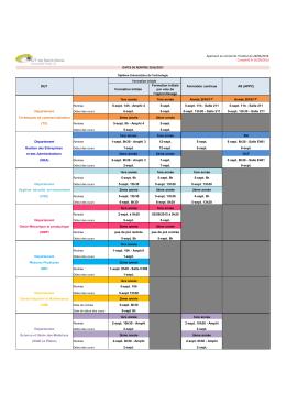 Calendrier de rentrée 2016-2017