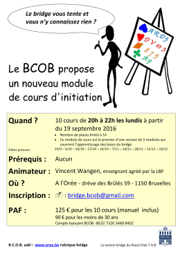 BCOB module1 sept 2016