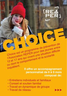Dépliant Choice - REPER Fribourg