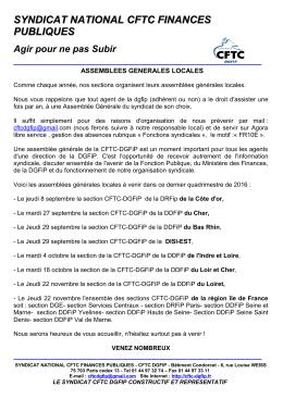 ci joint - Syndicat National CFTC Finances Publiques