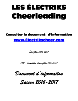 Cheerleading - Les Électriks Cheer