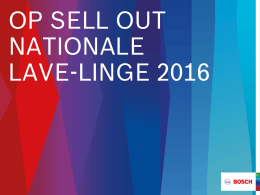 op sell out nationale lave-linge 2016