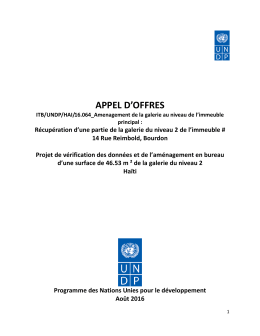 Appel d`Offres - Procurement Notices