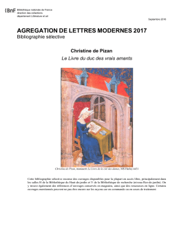 Christine de Pizan - Bibliothèque nationale de France