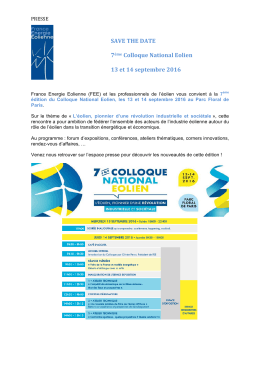 [Save The Date] CNE 2016 13 et 14 septembre 2016
