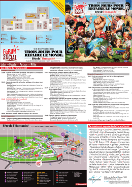 Le programme - Syndicat CGT de l`UGECAM ILE DE FRANCE