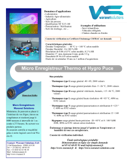 Micro Enregistreur Thermo et Hygro Puce
