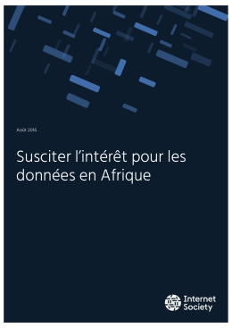 Susciter l`intérêt pour les données en Afrique