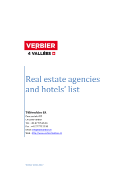Real estate agencies and hotels` list