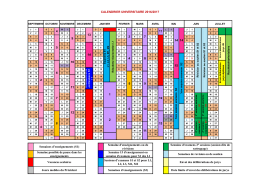 Calendrier Universitaire 2016-2017 optionnel