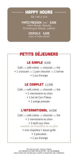 Happy Hours Petits déjeuners