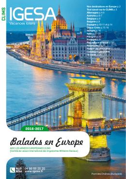 Balades en Europe