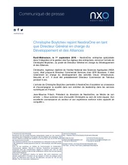 Christophe Boytchev rejoint NextiraOne en tant que Directeur