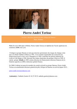 Pierre-André TERISSEDirecteur général pour l`Afrique