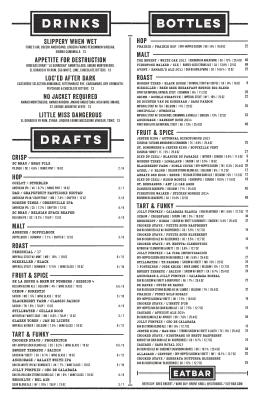 Beer + Drinks 09.01.16