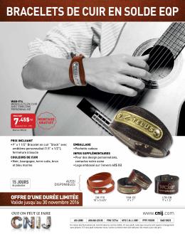 bracelets de cuir en solde eqp