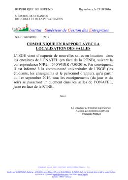 telecharger COMMUNIQUE SALLE DES COURS