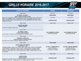 grille horaire 2016-2017
