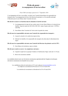 La sécurité - Lycée Denis DIDEROT
