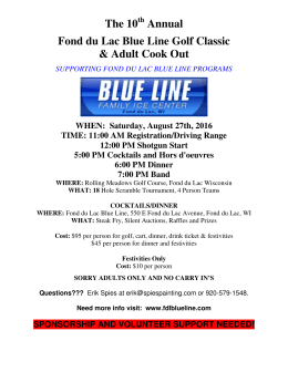 Blue Line Golf Outing - Saturday, August 27th @ 12:00 pm