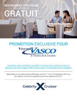 promotion exclusive pour