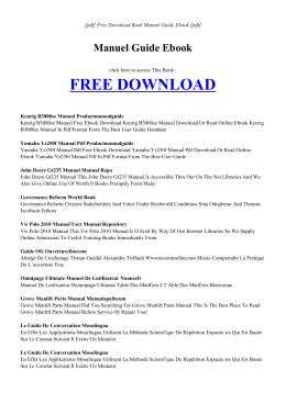 MANUEL GUIDE EBOOK   Free PDF eBook