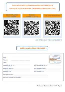 Carte d`identité numérique Classe inversée Seconde Bac Pro