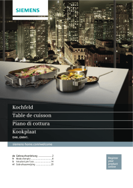 Kochfeld Table de cuisson Piano di cottura - bsh