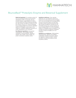 BounceBack® Proteolytic Enzyme and Botanical Supplement