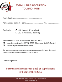 formulaire inscription tournoi mini