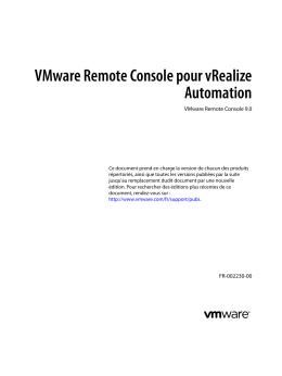 VMware Remote Console pour vRealize Automation