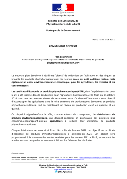 communiqué - DRAAF Nord-Pas-de-Calais-Picardie