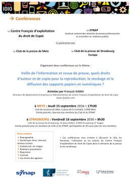 Conférences - SG