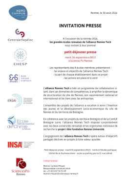 invitation presse - Sciences Po Rennes