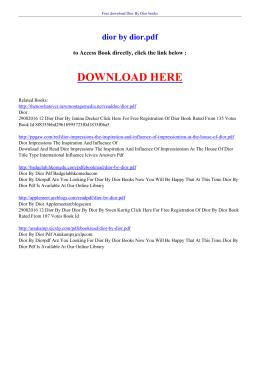 DIOR BY DIOR PDF