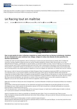 Format PDF - Racingstub