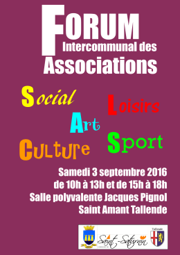 Affiche Forum Intercommunal des Associations 2016
