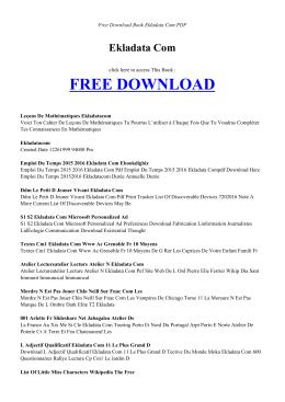 EKLADATA COM - INDEX - Free PDF Books
