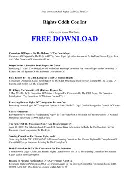 RIGHTS CDDH COE INT - Free PDF Books