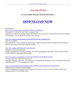 claas mega 208 pdf