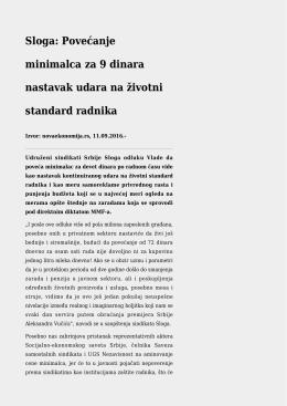 Nezavisnost tvrdi: EPS nije podizao plate,U Srbiji se radi za siću