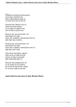 Jasmin Stavros Lako ćemo mi (feat. Miroslav