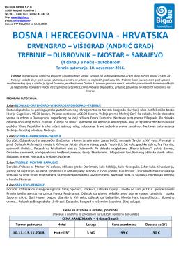 Hrvatska, 10.11.2016 - Turistička agencija Big Blue