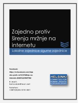 Zajedno protiv širenja mržnje na internetu